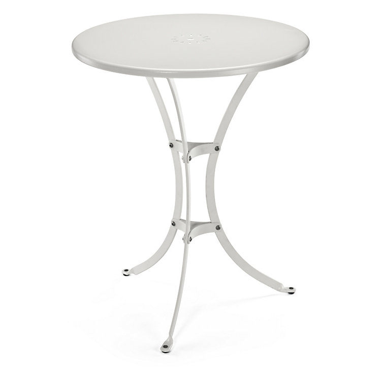 Small Steel Garden Table White