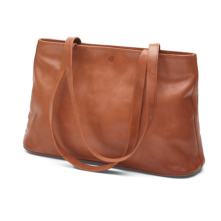Sonnenleder Leather Shopping Bag, Nature