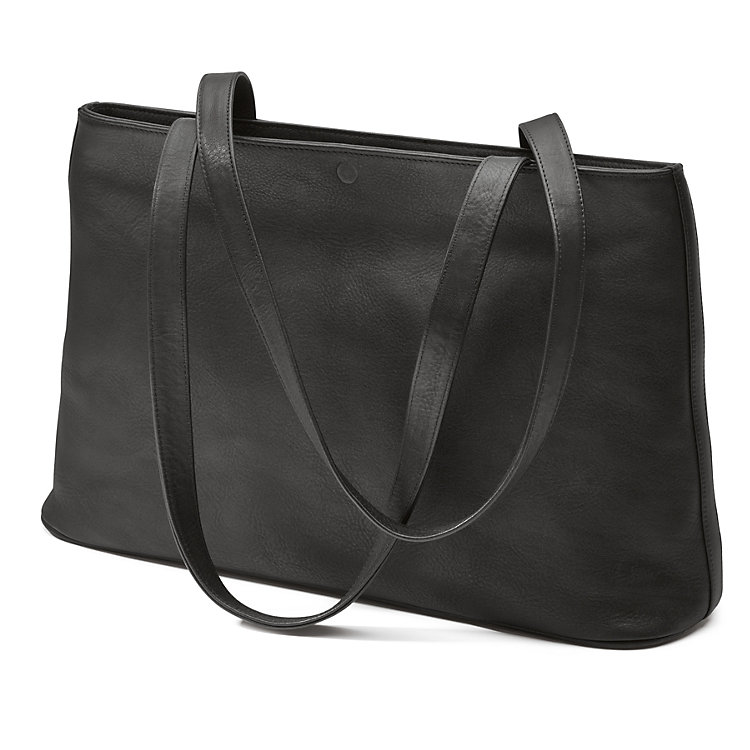 Sonnenleder Leather Shopping Bag Black