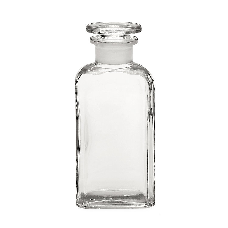Square-Cut Bottle Glass Vol. 250 ml Clear