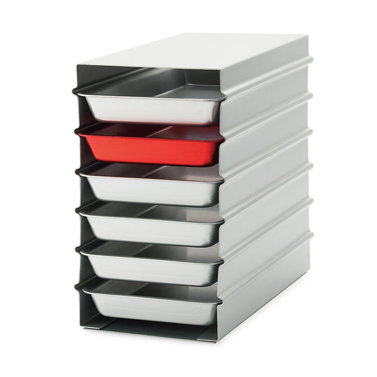 Stacked Trays Alumoule, Small