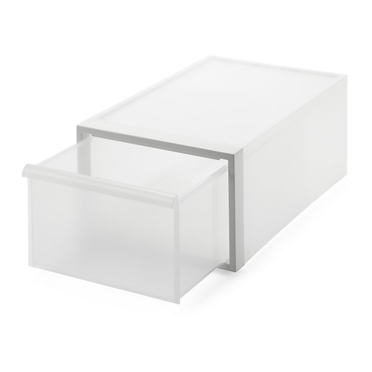 Stacking Box CS Medium Height White