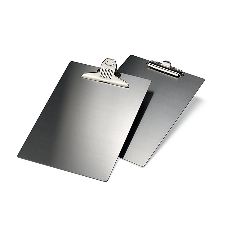 Stainless Steel A4 Clipboard Large