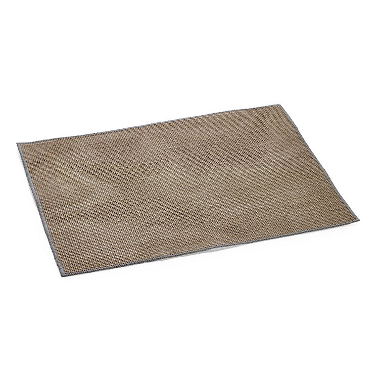 Starched Linen Placemat Light Gray