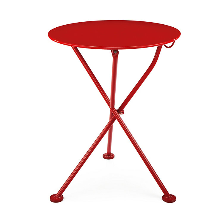 Steel Balcony Folding Table, Red