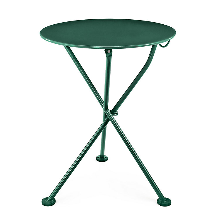 Steel Balcony Folding Table, Green
