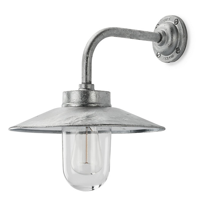 Steel Exterior Wall Lamp, right-angled