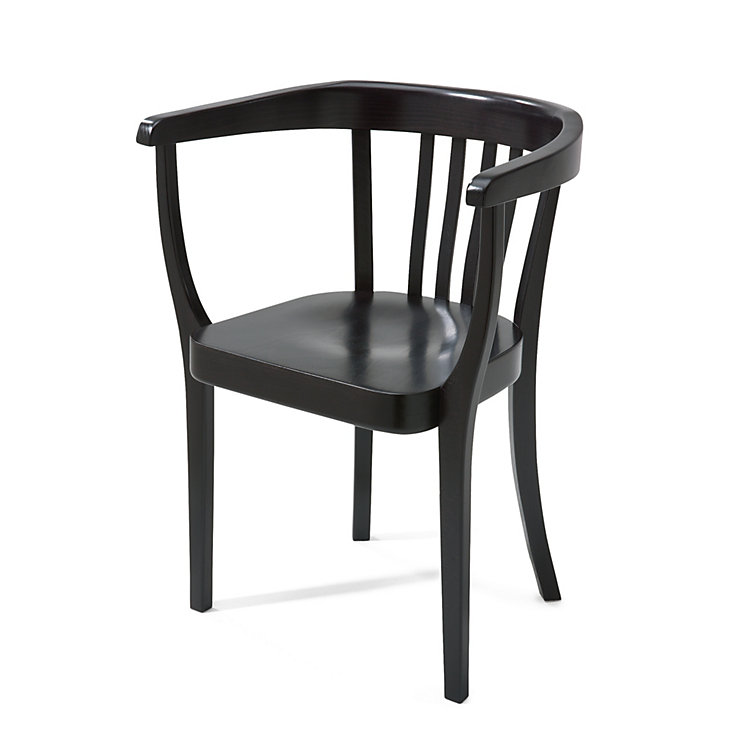 Stoelker Chair without leather seat cushion black