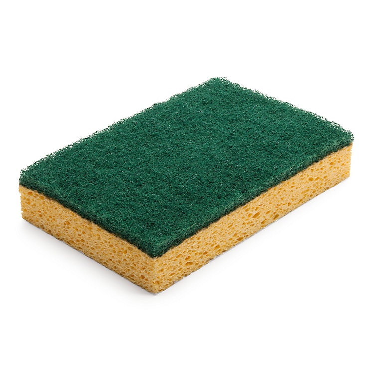 Strong Cellulose Scrubbing Sponge (2 Pieces)
