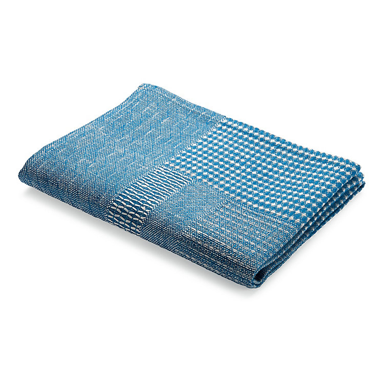 Structured Fabric Dish Towel Blue