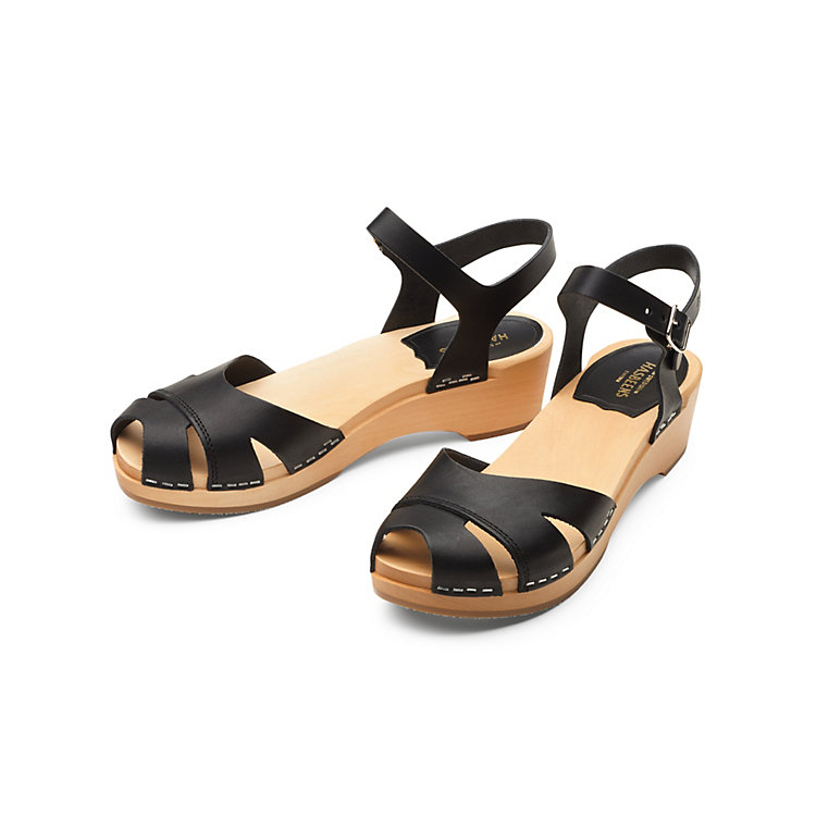 Swedish Hasbeens Flat Ladies' Sandals Black