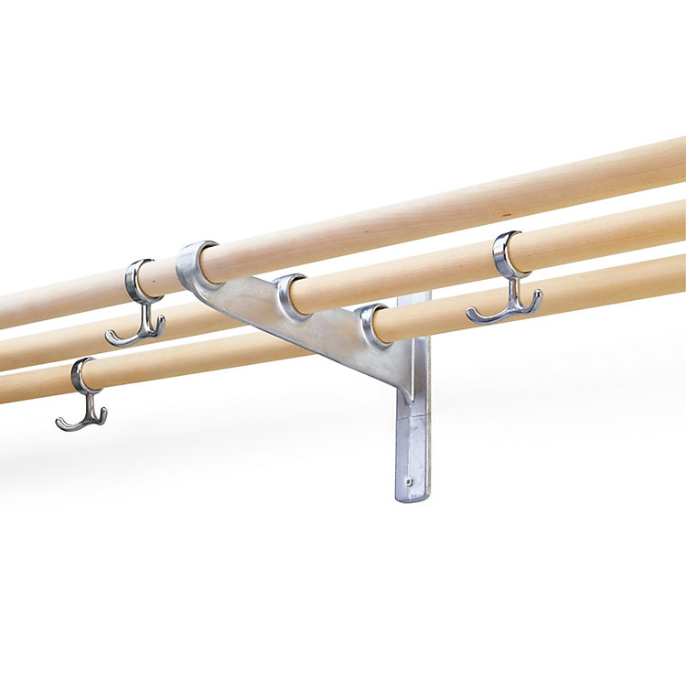 Swedish Railway Hat-Rack and Coat-Hanger Extension Set birch
