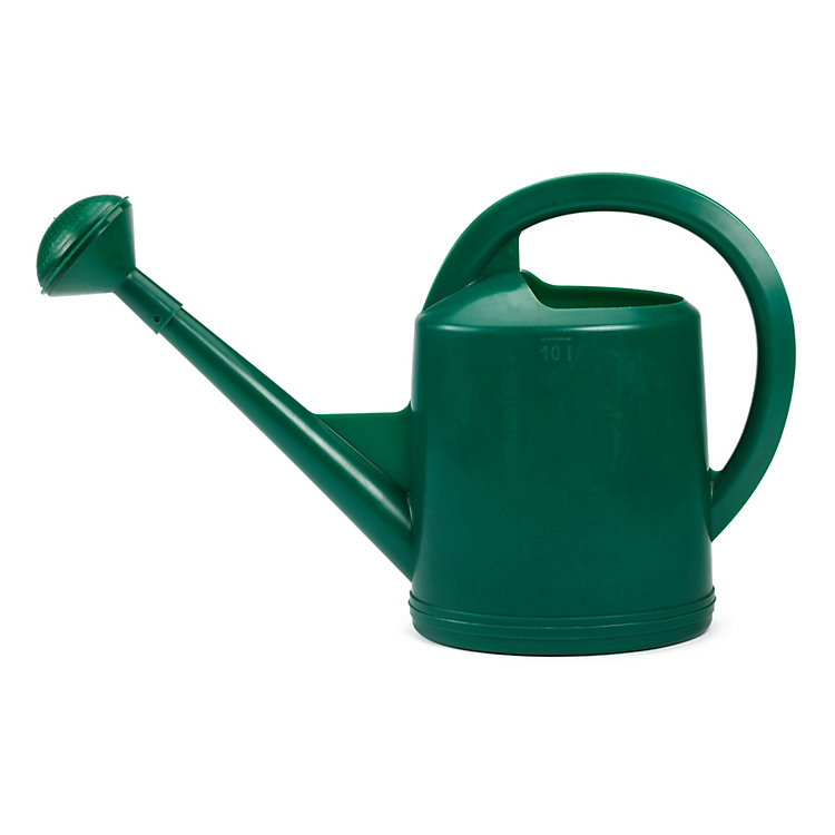 Swiss Plastic Watering Can with Rose Volume 10 l Green