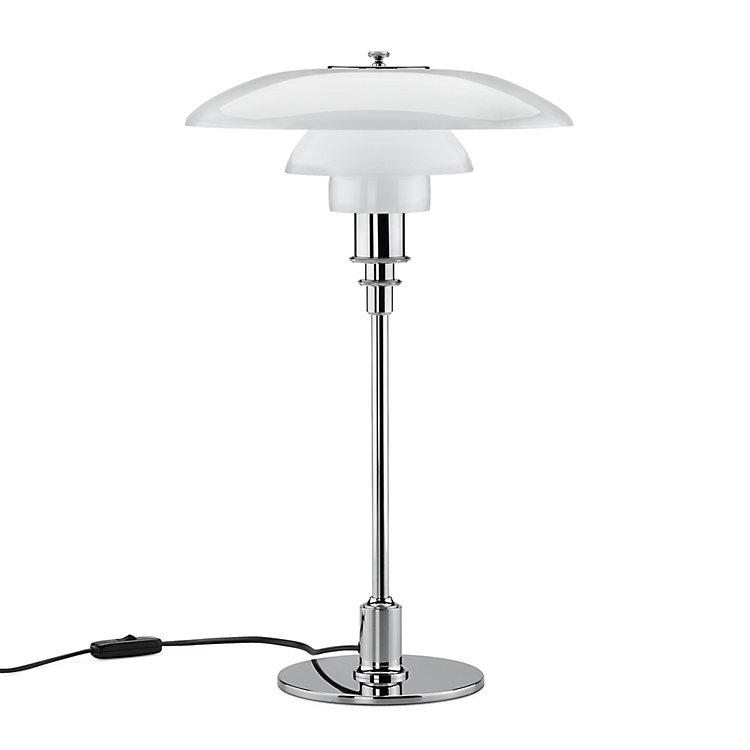 Table lamp opal glass PH 3/2 Chrome