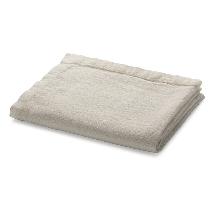 Table Runner Washed Linen White