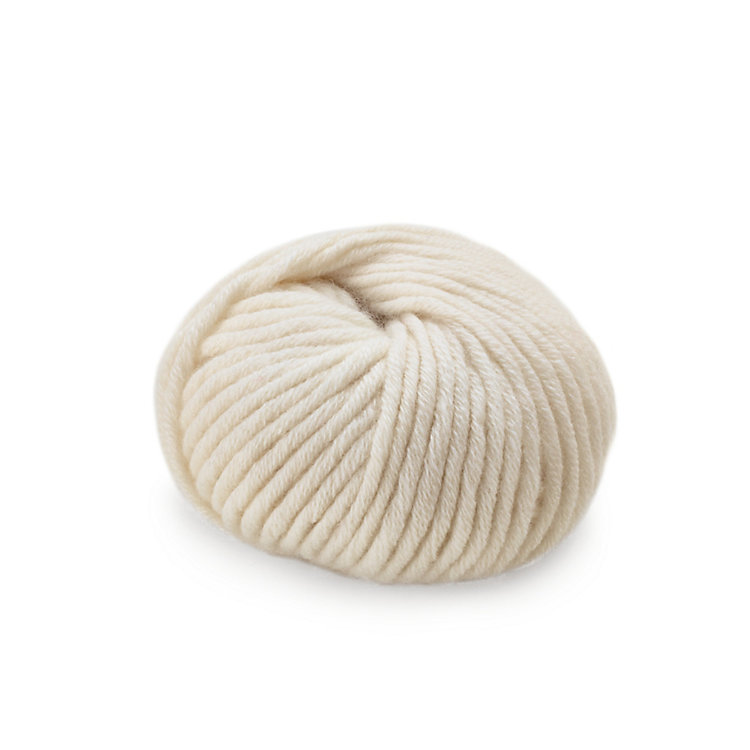 Ten-Threaded Cashmere Hand Knitting Yarn Ecru