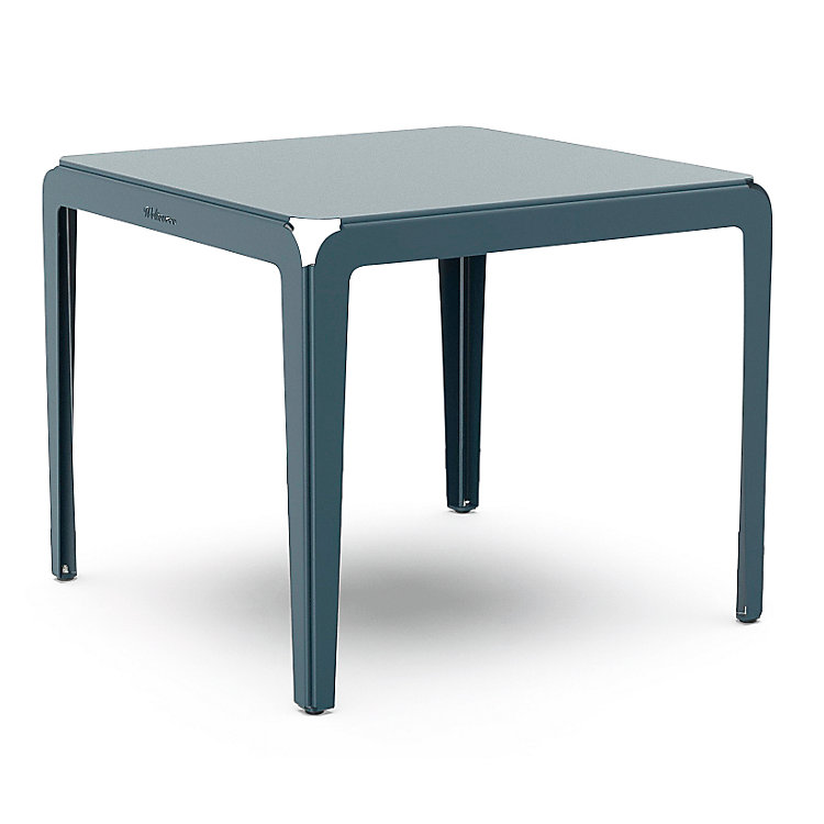 Tisch Bended Table 90, Graublau RAL 5008