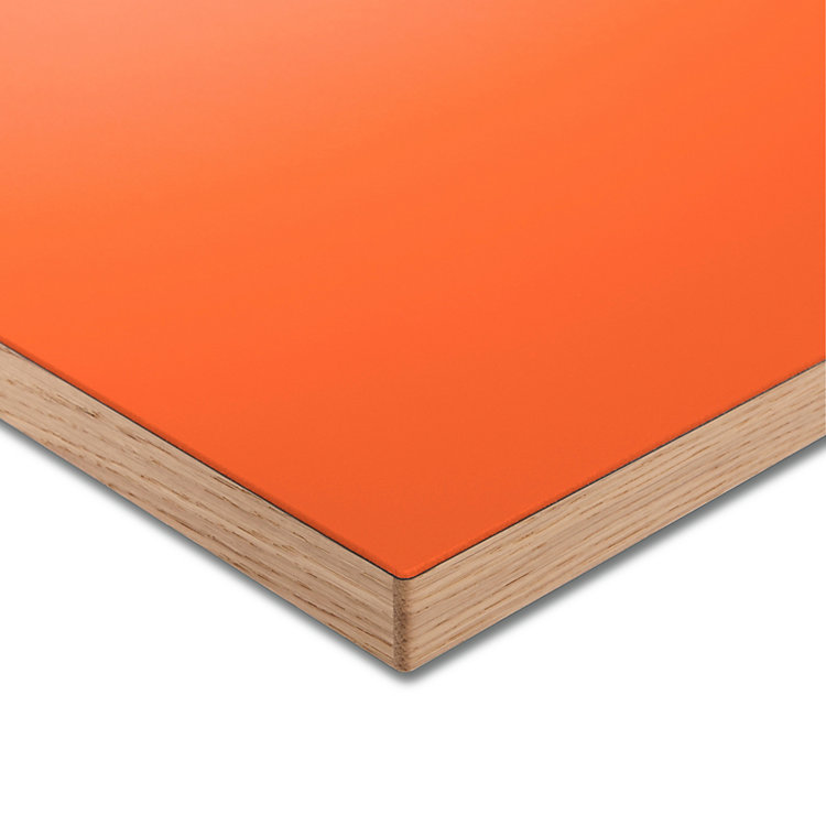 Tischplatte LTL Linoleum Orange