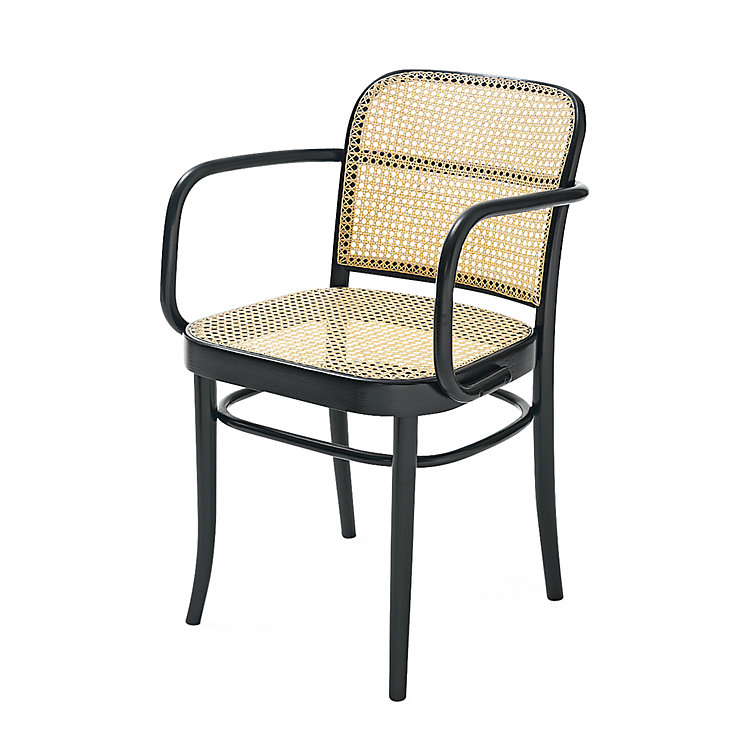 Ton Bentwood Armchair, Black lacquer