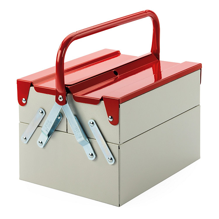 Tool and Utensil Box Plus Light Grey /Fire Red