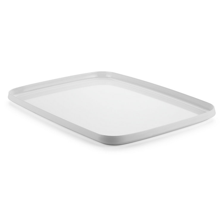 Tray Made of Melamine Resin Large White