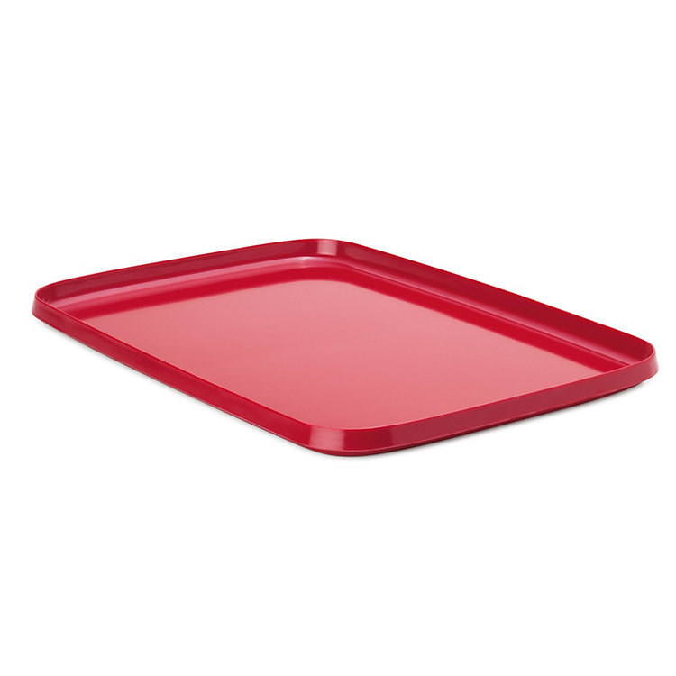 Tray Made of Melamine Resin Large Red