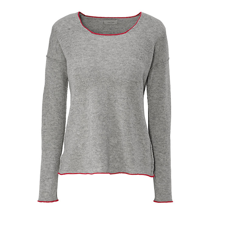 Villa Gaia Ladies' Cashmere Sweater Gray-Red