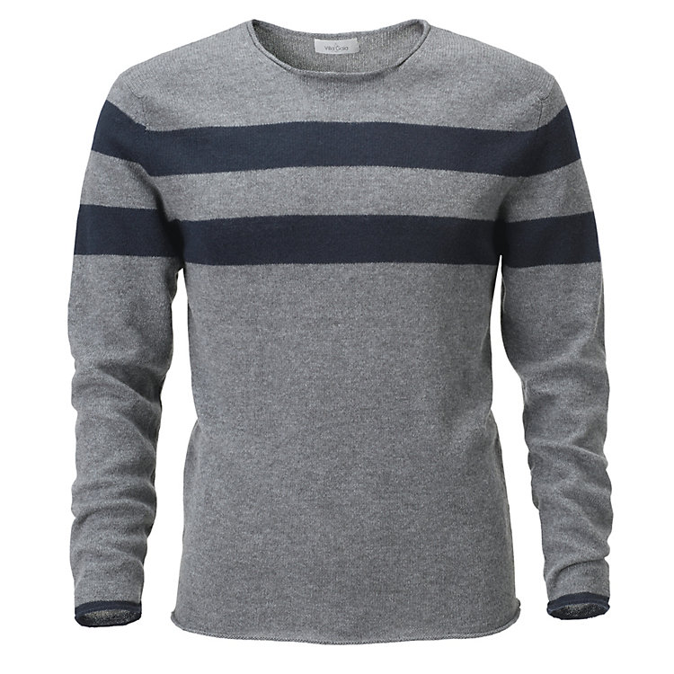Villa Gaia Men's Cashmere Jumper Blue-grey