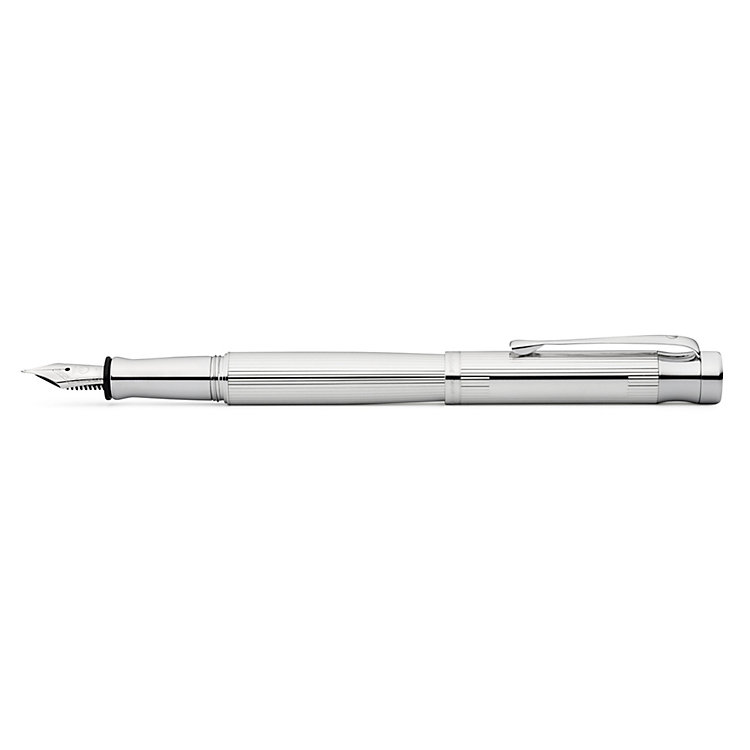 Waldmann Sterling Silver fountain pen linear guilloche