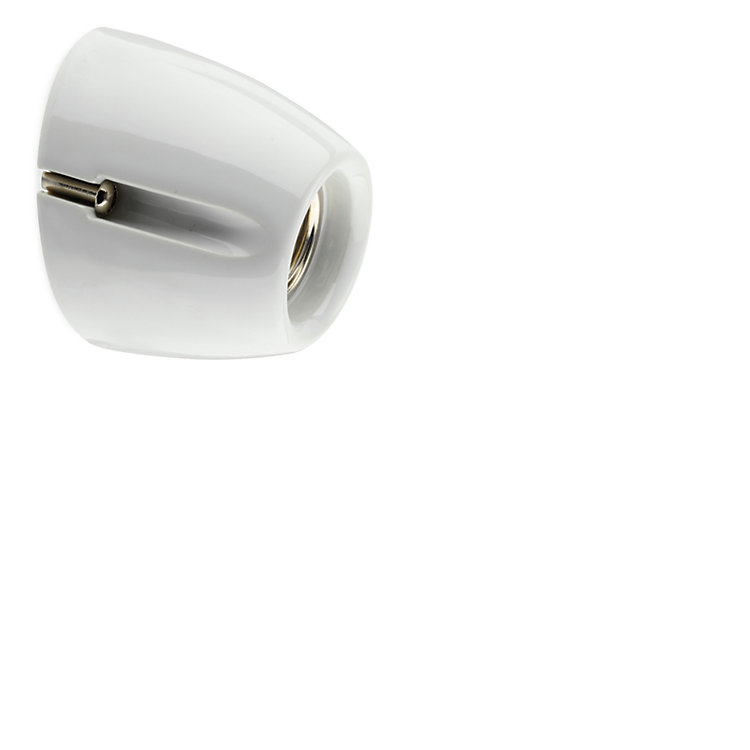 Wall and Ceiling Light BLANK Two, bevelled shape White