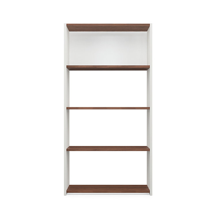 Walnut and Beechwood Folding Shelving 4 Compartments White