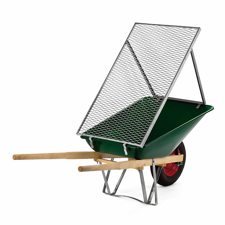 Wheelbarrow Mounted Dirt Sieve