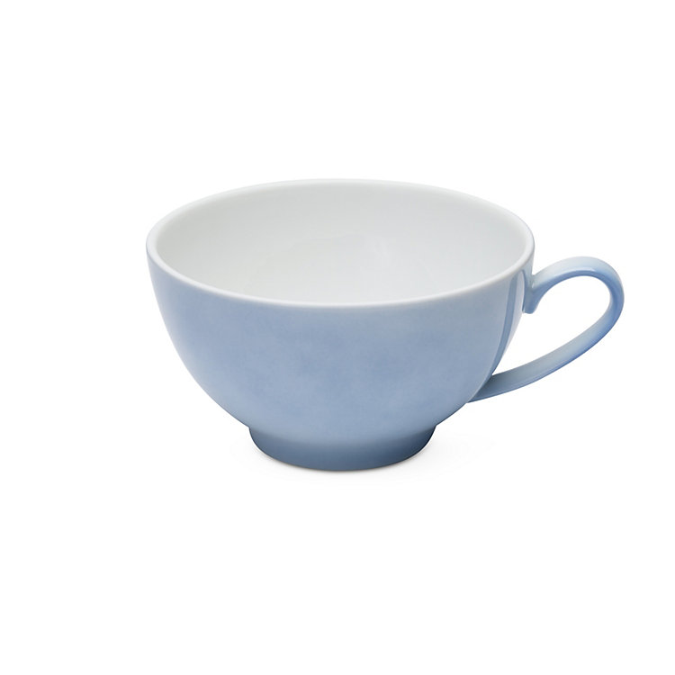 White Coffee Cup Blue