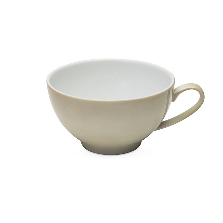 White Coffee Cup Green