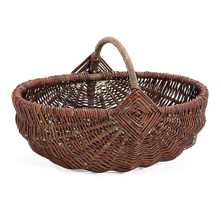 Wicker Basket with Handle Small