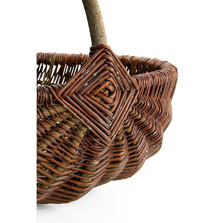 Wicker Basket With Handle Small Manufactum