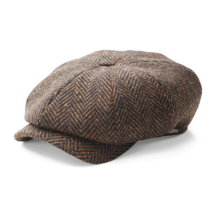 Wigens Men's Newsboy Cap Brown/Black