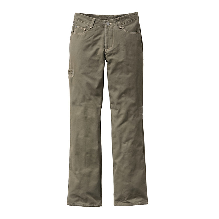 Women's Canvas Work Trousers, Olive