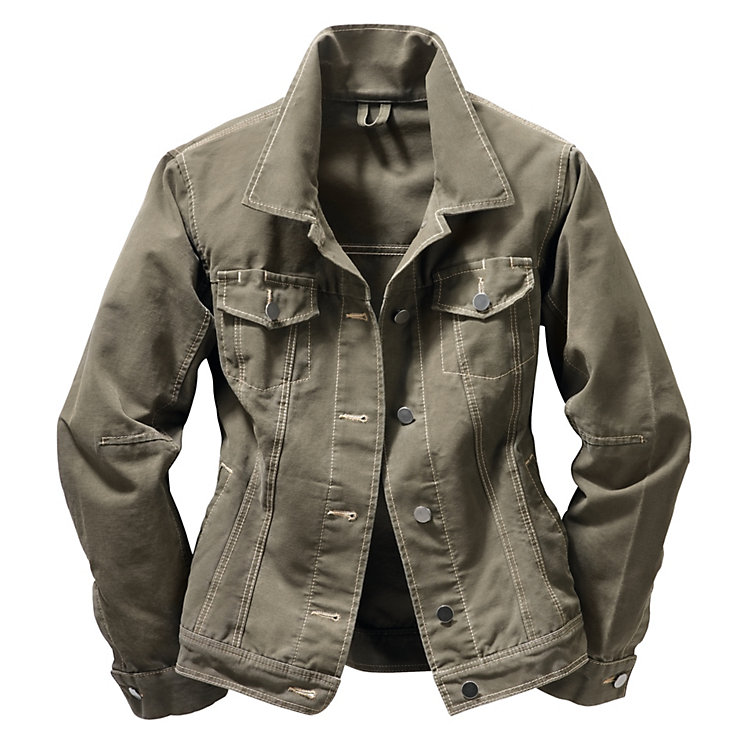 Women's Canvas Working Jacket Olive
