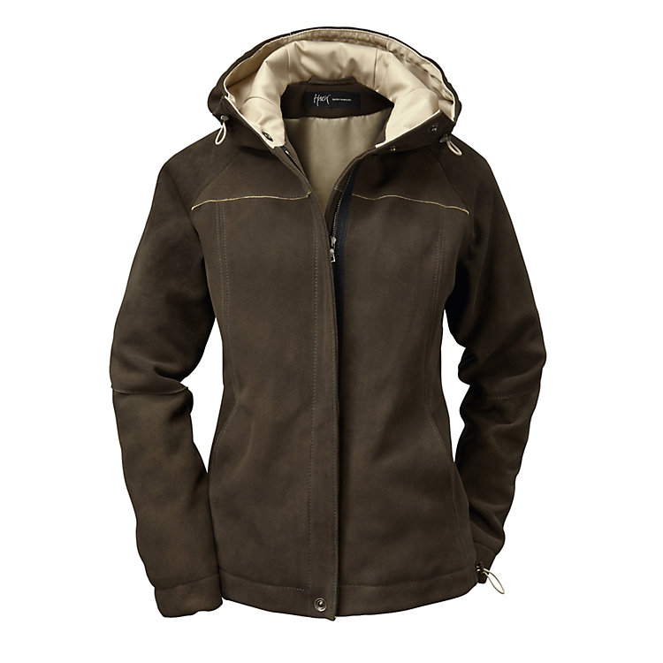 Women's Deerskin Hooded Jacket