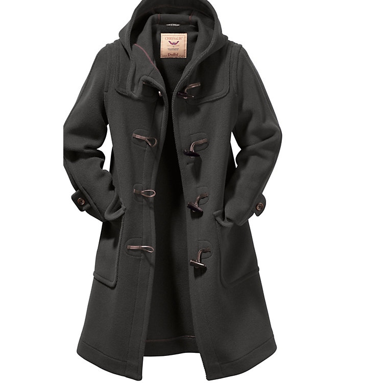 Women's Duffle Coat Elysian, Anthracite