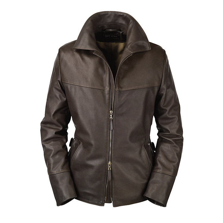 Women's Hack Cowhide Jacket, Dark Brown