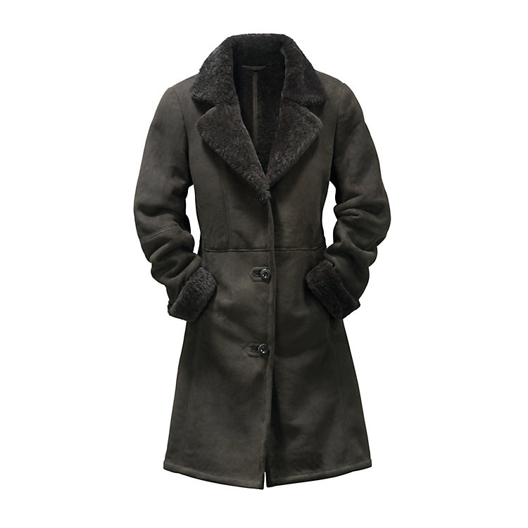 Women's Icelandic Lambskin Coat Anthracite