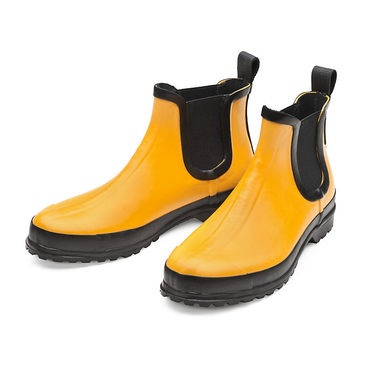 Women's Mixed Natural Rubber Ankle Boots Yellow