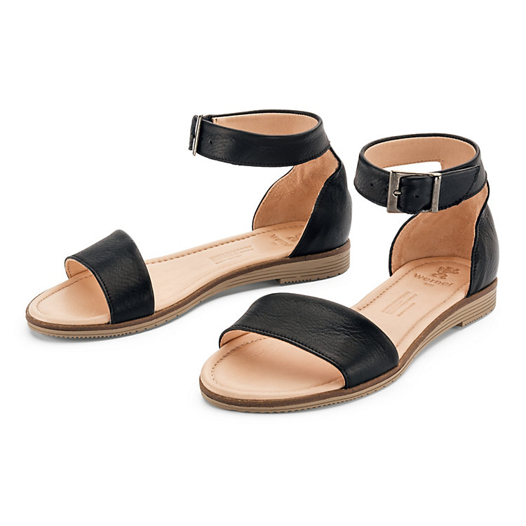 Women's Napa Cowhide Sandals by Werner, Black