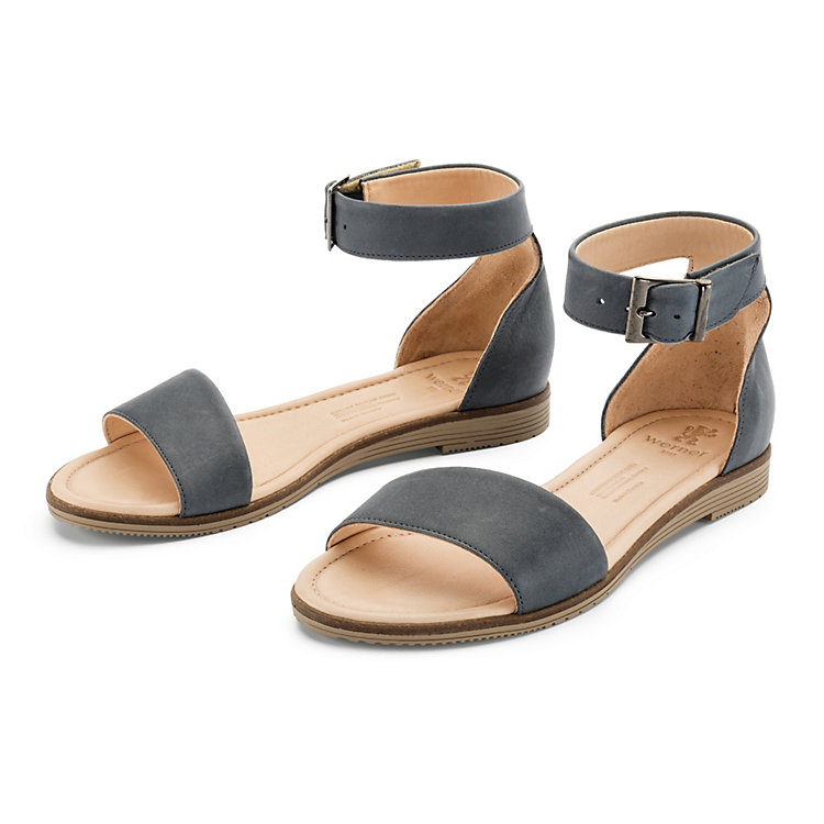 Women's Napa Cowhide Sandals by Werner Blue-Grey
