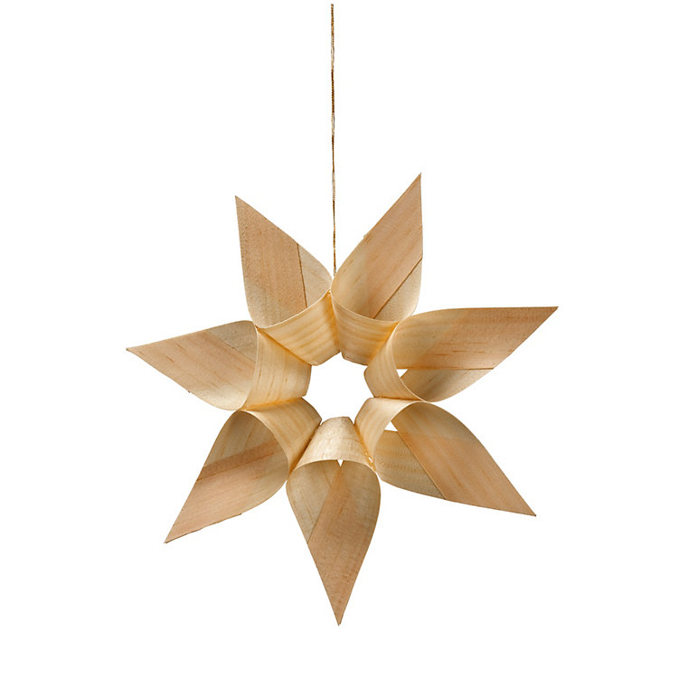 Wood Shaving Star Large
