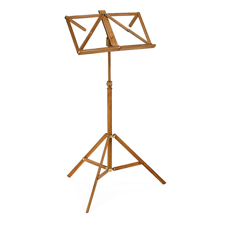 Wooden Foldaway Music Stand Cherry Wood