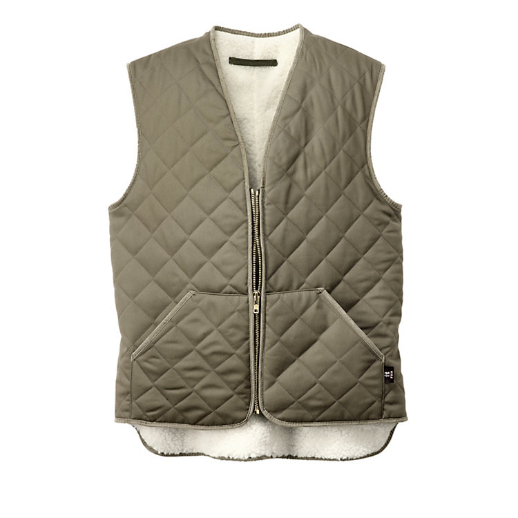 Wool-Lined Work Vest Olive
