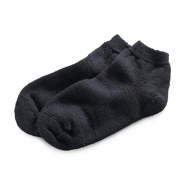 Wool and Silk Slipper Socks, Black